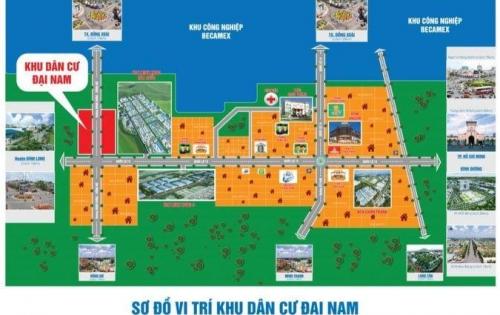 Chính thức mở bán KDC Đại Nam. Sổ hồng sẵn. Mặt tiền ql13