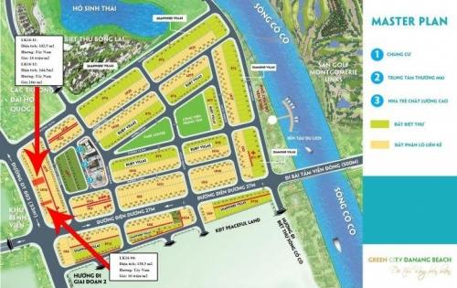 Chính chủ cần bán 2 lô liền kề dự án Green City, mặt tiền đường 33m, vị trí thuận lợi