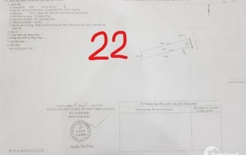 Cần tiền bán đất Đức Hòa 162m2, 5tr8/m2, SHR