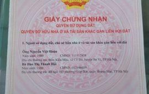 Cần bán gấp mảnh đất giá 1.55 tỷ tại ngõ Trương Định, quận Hoàng Mai