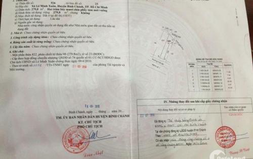 Bán gấp 250m2 đất, SHR, đối diện KCN Lê Minh Xuân III, giá 900tr, SHR. LIÊN HỆ 0384422082