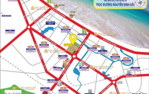 Bán gấp đất đường Nguyễn Sinh Sắc giá rẻ nhất thị trường, lô gốc, gần biển