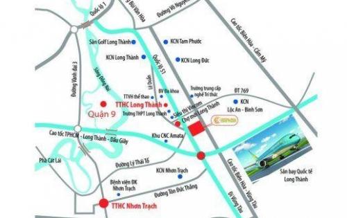 Hot! Đất mặt tiền Quốc lộ 51 - ngay TTHC, UBND,huyện Long Thành. Giá chỉ 550 tr/nền. LH: 0767473479