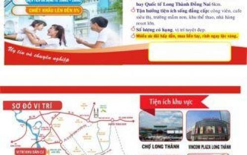 Đất Dự Án Luxury CiTy1 huyện Long Thành Đồng Nai gần Sân Bay Quốc Tế LT, DT 108m2. SHR