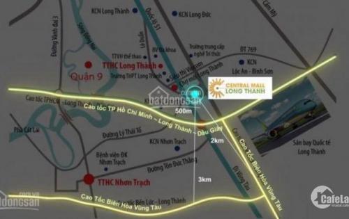 Bán đất mặt tiền QL 51, đối diện chợ mới Long Thành, giá đầu tư F0. LH ngay 0901.434.900