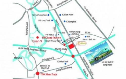 Hot hot, chỉ vơi 570tr/nền/90m2, có ngay nền đất mặt tiền QL51, ngay chợ mới Long Thành