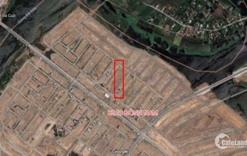 Bán lô đất điện âm tay trái Nam Hòa Xuân B2.19 hướng đông nam giá chỉ 2550, đường đang đổ nhựa