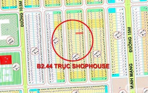 Bán gấp lô đất Nam Hòa Xuân sau lưng Shophouse Minh Mạng B2.44 hướng đông nam, đường rải thảm nhựa