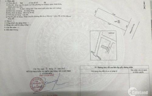 Bán nền Hẻm liên tổ 4-5 Nguyễn Văn Linh-AN Khánh-Ninh Kiều