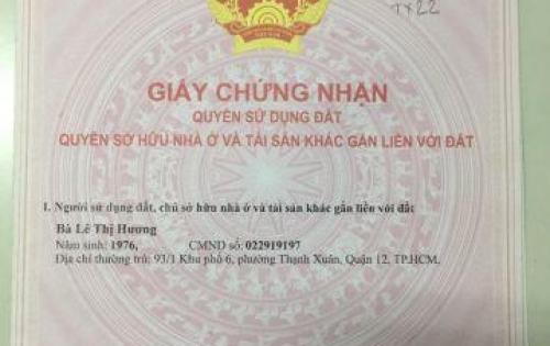 Siêu phẩm của những siêu phẩm, bán lô đất 3 MT cực đẹp phường Thạnh Xuân, Q12