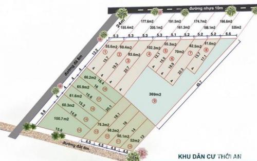 Bán đất Thới An SỔ HỒNG RIÊNG giá rẻ quận12  (20tr/m2)