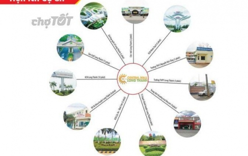 Đất nền khu đô thị cao cấp Central mall Long Thành, SHR, thổ cư 100%.