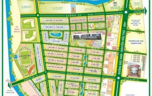 Bán Đất Him Lam Kênh Tẻ Quận 7 : Lô Góc 2MT DT 137,5m2 Giá 110tr/m2