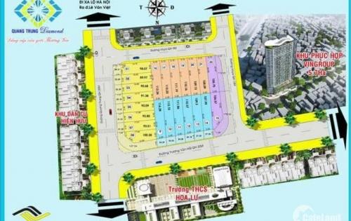 Đất mặt tiền đường Quang Trung, Kiến Thiết, Hiệp Phú, quận 9, 110m2, 55.5tr/2, LH: 0901951167