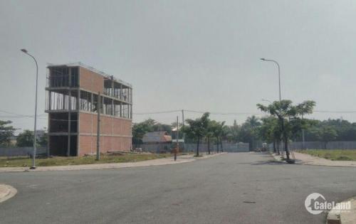 Bán đất mặt tiền Trường Lưu, gần chợ Long Trường, sổ đỏ thổ cư 100%.