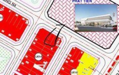 Cần bán nhanh trong tuần lô đất N4 KDC IDICO P6 TP Tân An đối diện SHOWROOM HOANDA