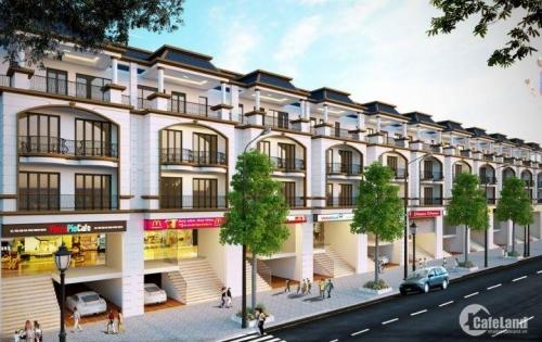 Bán lô SHOPHOUSE 8m mặt tiền 140m2 hướng Đông Nam – khu phố mới Fairy Town Vĩnh Yên.