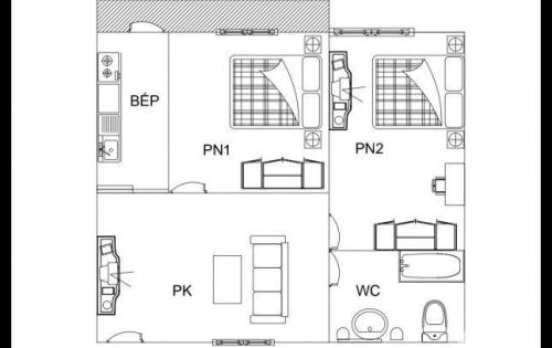 Bán nhà chung cư Hoàng Huy tầng 5 giá 300tr/căn diện tích 54m2. LH: 0834.256.222