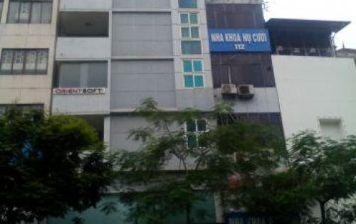 Cho thuê nhà mặt phố Nguyễn Trường Tộ nhà 8 tầng có thang máy