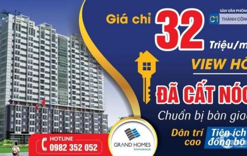 Phân phối độc quyền căn hộ và sàn văn phòng tại chung cư C1 Thành Công, giá chỉ từ 32tr/m2