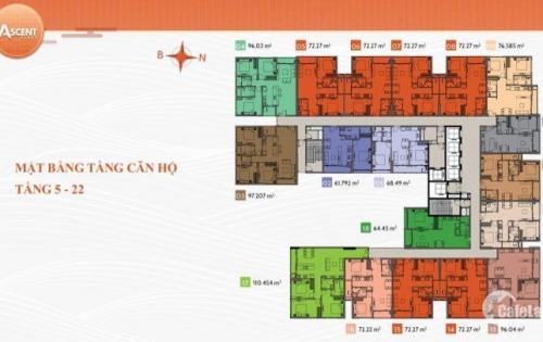 Căn hộ siêu hot, ascent plaza, mt 375 nơ trang long, 2 tỷ/1pn, thanh toán 50% đến khi nhận nhà