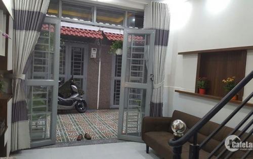 Cần bán nhà 1 trệt, 2 lầu mới xây đẹp, tiện KD tại nhà, đường thông 6m, SH, giá rẻ 998 triệu