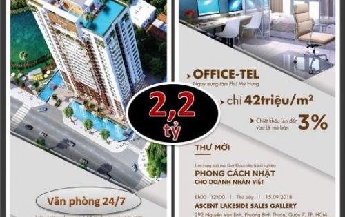 Officetel kết hợp căn hộ cao cấp - Mặt tiền Nguyễn Văn Linh Q7 - Chỉ từ 2,2 tỷ