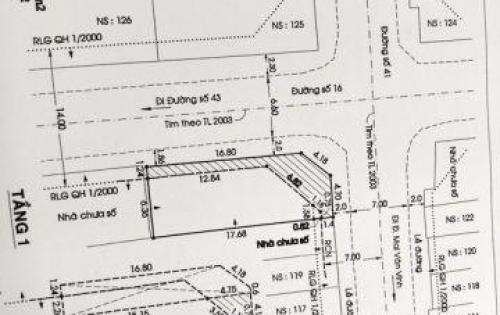 Bán nhà cấp 4 có lững góc 2 mặt tiền đường 41, quận 7.