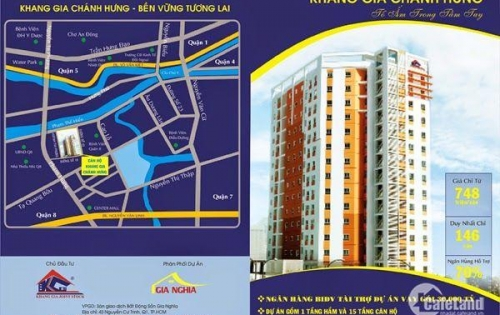 Bán căn hộ chung cư Khang Gia - Quận 8. Căn 51m2, 2PN giá chỉ 1,12 tỷ.