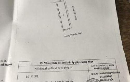 •Bán nhà MT đường Nguyễn Duy P10Q8 DT 3 x 12m. Giá 3 Tỷ