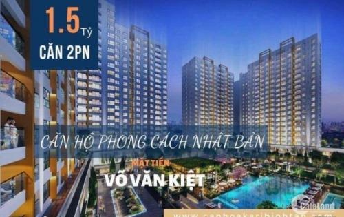 Căn hộ mặt tiền Võ Văn Kiệt 1,5 tỷ/căn,thanh toán chỉ 50% nhận nhà2020
