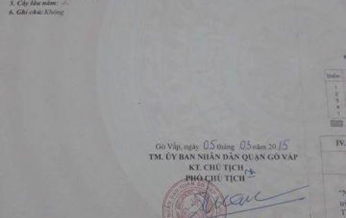 Nhà Cấp 4 Chính Chủ hẻm 16M - Phường 8 - Quang Trung.