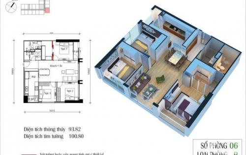 Chính chủ bán 3PN, DT 101m2 chung cư Eco Green City Nguyễn Xiển