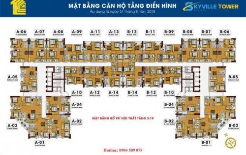 Mở bán Chung cư Tecco Skyville Tower – dự án hot nhất khu vực Nam Hà Nội