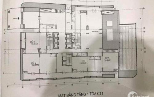 Bán sàn thương mại tầng 1 2 3 tòa Ct1 chung cư 43 Phạm Văn Đồng