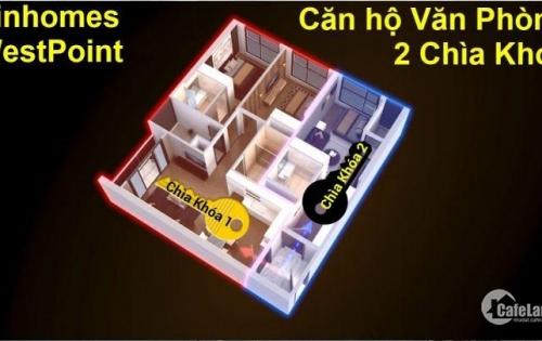 Căn hộ văn phòng 2 chìa khóa Vinhomes West Point Đỗ Đức Dục - 72m2, 3.2 tỷ, CK 110tr, 0971268778