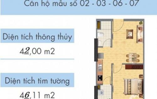 Căn hộ CT1A Nghĩa Đô 45m2, thiết kế 01 PN, chỉ 1.4 tỷ