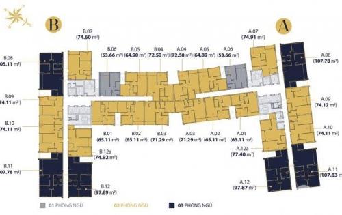 Cho thuê căn hộ Millennium, 2PN 2WC, giá thuê 17 triệu/tháng.LH: 0916.913.138