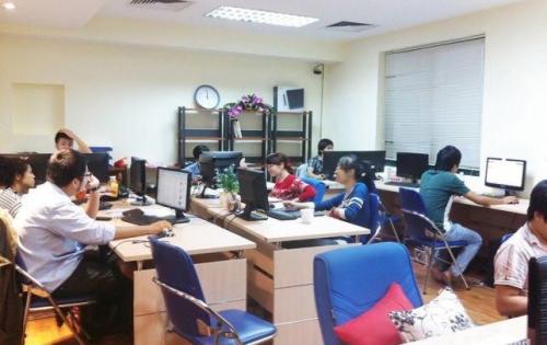 Cho thuê văn phòng tòa nhà mặt phố Trường Chinh, quận Đống Đa 150m2 mặt tiền 8m