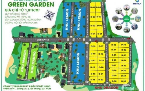 Chính chủ bán đất biệt thự vườn Bến Lức _ Long An chỉ 750 tr/500m2