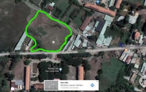 Bán đất Đối diện trường tiểu học Long Hòa , cách chợ Rạch Kiến 400m giá 800 triệu/90m2.
