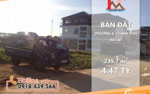 Cần bán gấp lô đất #view_đẹp hẻm ô tô đường Nguyễn An Ninh, Phường 6, TP. Đà Lạt – Giá 4,470 tỷ