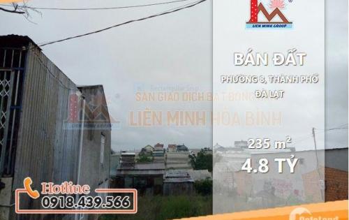 Bán nhanh lô đất #giá_rẻ mặt tiền đường phường 8, TP Đà Lạt !