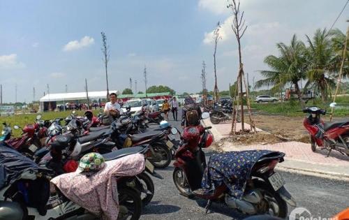 Bán đất cách chợ Bình Chánh 4km 900tr SHR đối diện trường học.
