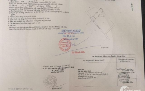 Bán Đất Thổ Cư Xã Bình Khánh, SHR, DT: 5m x 19.9m, ngay chợ Bình Khánh. Giá: 750tr. 0938781609