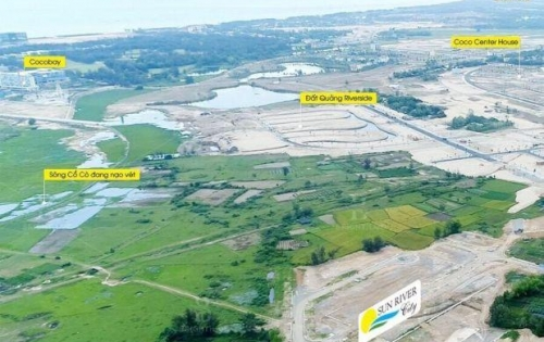 Dì mình cần tiền nên nhờ bán lô đất liền kề KĐT FPT, ven sông cồ cò, đối diện Cocobay
