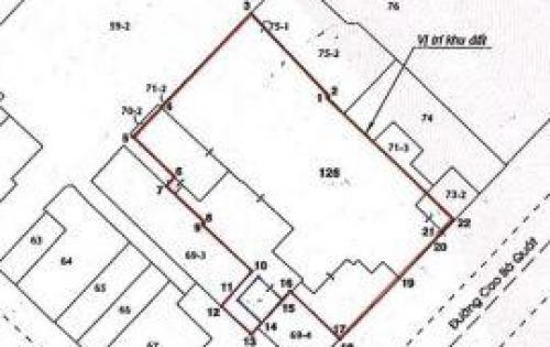 Bán đất 20 Cao Bá Quát, phường Bến Nghé, Quận 1