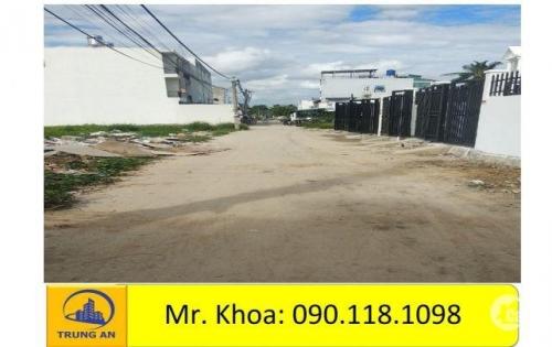 tôi bán đất đường thông Thạnh Xuân 48 dt 5,5x15 thổ cư 88m2 đường bê tông không ngập