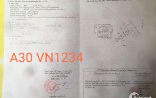 Chính chủ bán gấp Lô A30 Việt Nhân 1234 đường số 8, Long Phước, Quận 9