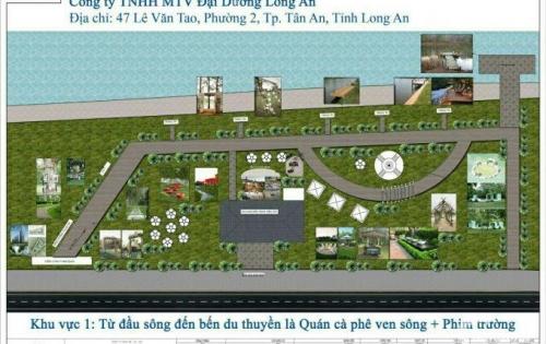 Bán đất khu đô thị ven sông vàm cỏ, MT Hùng Vương, 3 tỷ